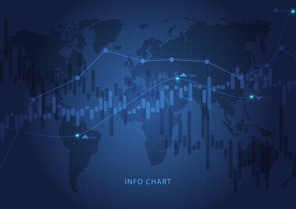 business-candle-chart-of-stock-market-trading-on-blue-background-of-vector-id946261242